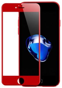 4D Full Screen Surfaces Tempered Glass Screen Protector By Ineix For Apple iPhone 7 Plus - RED