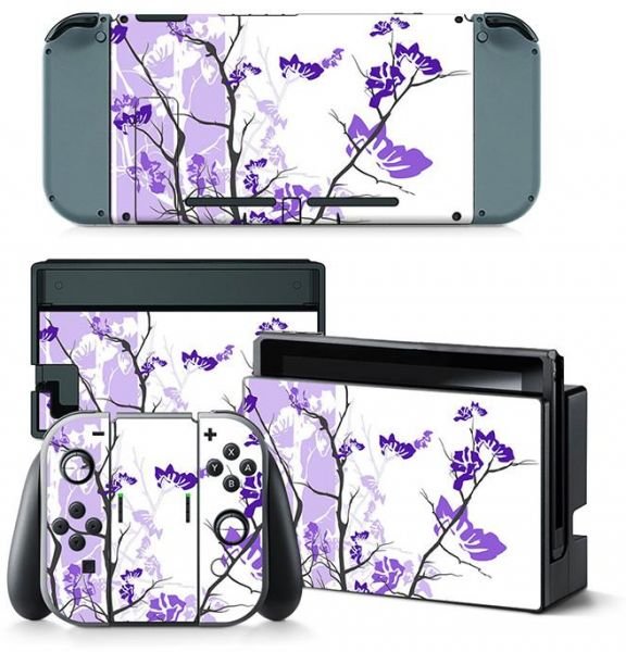 Body Decal Skin Sticker Protector Faceplate For Nintend Switch Console Purple