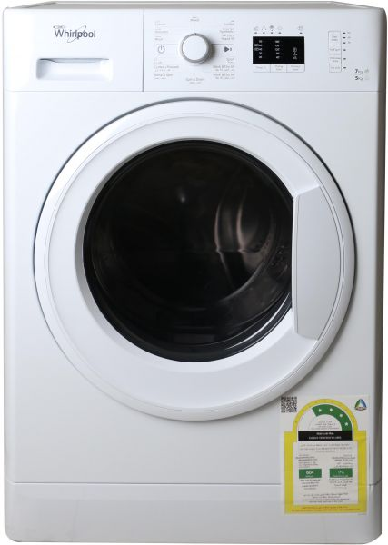 buy whirlpool front load washing machine 7 kg capacity white wwde7512 in uae