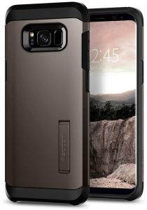 huge selection of 15543 dcf6a Samsung Galaxy S8 Plus Case, Spigen with Kickstand Tough Armor Gunmetal