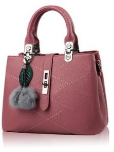 Sweet and Stylish fringed hair ball decorative leisure handbag Messenger bag  for women a7d61c337f