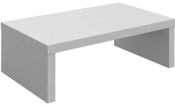 Artely Honeycomb MDP Troia Coffee Table, White - H 32.5 cm x W 99 cm x D 59 cm