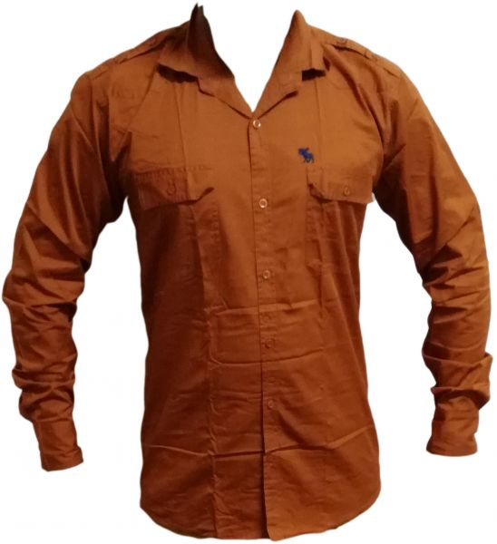 17d2d3de6c749 ACF Burnt Orange Shirt Neck Shirts For Men