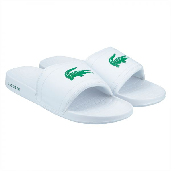 9473f8ce0a33 Lacoste Fraisier Brd1 Slide Slippers for Men - White