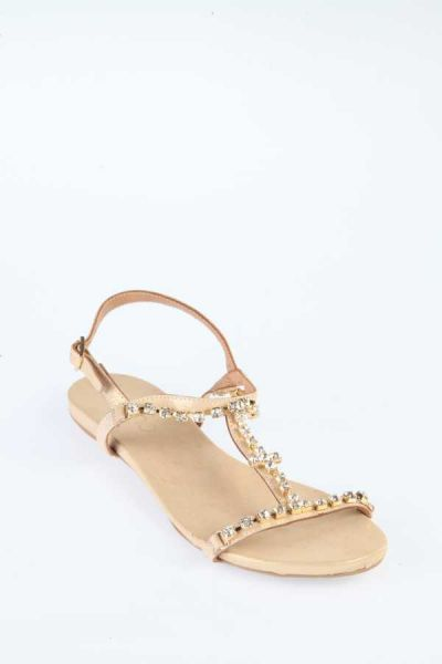 70f1ddd7811 Bueno Shoes Shiny Gold Flat Sandal For Women Price in Saudi Arabia ...