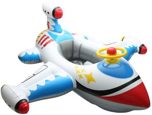 Inflatable Airplane Baby Kids Infant Swimming Float Seat Boat Pool Ring Age 1-4