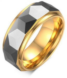 Chic Stainless Steel Men Blank Ring Concise Designs 0548