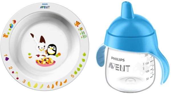 Philips Avent Blue Spout Cup With Big Toddler Bowel, 12 Months