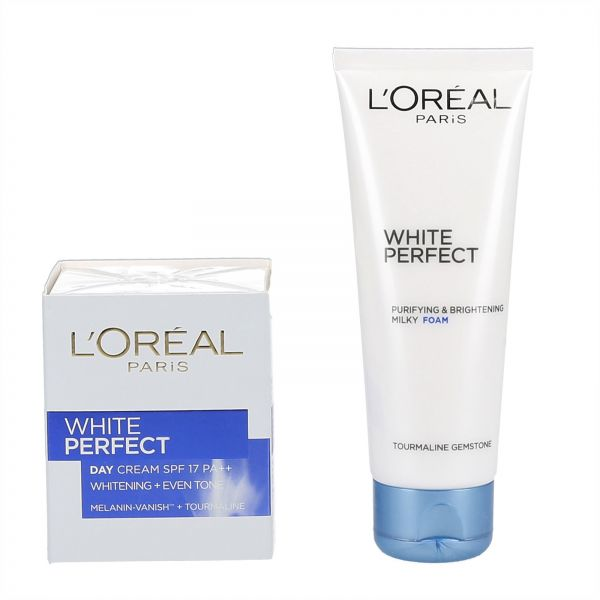 L'Oreal White Perfect Day Cream + White Perfect Purifying & Brightening Milky Foam, 150ml