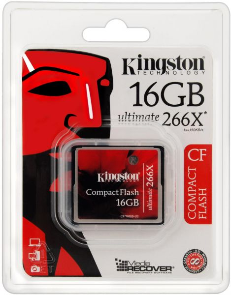 kingston 16 GB Memory Card For Cameras - Compact Flash Cards - CF 16 gb 266x