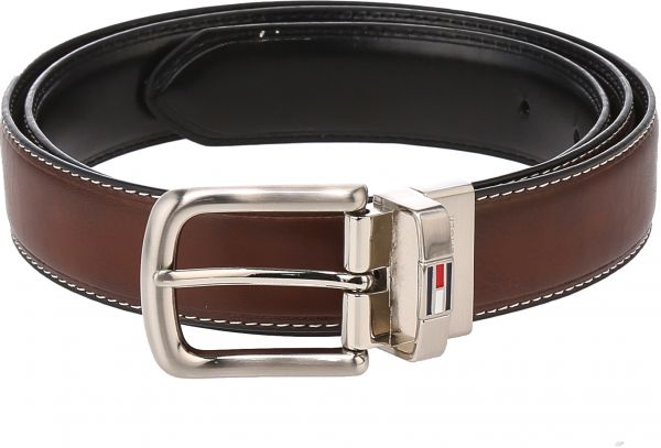 8026eda18fac Tommy Hilfiger Reversible Leather Belt for Men - Brown   Black