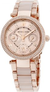 b57ce220e791 Michael Kors Parker Mini Women s Rose Gold Dial Stainless Steel Band Watch  - MK6110