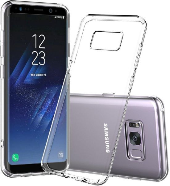 sports shoes 072d3 28df9 Slim Transparent Ultra-Thin TPU Protective Case Cover for Samsung Galaxy S8  - Clear