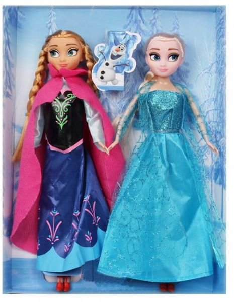 8c5bcf81a Frozen Ice and Snow doll Anna Elsa Princess Queen Barbie doll suit doll toys