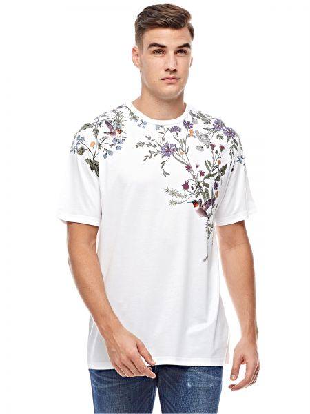 Forever 21 White Green Round Neck T Shirt For Men Price In Saudi