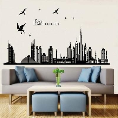 modern wall sticker 007 living room, bedroom, bathroom, kitchen
