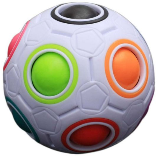 Rainbow Ball Football Magic Cube Speed Puzzle Cubes Educational Toys Special Birthday Gift