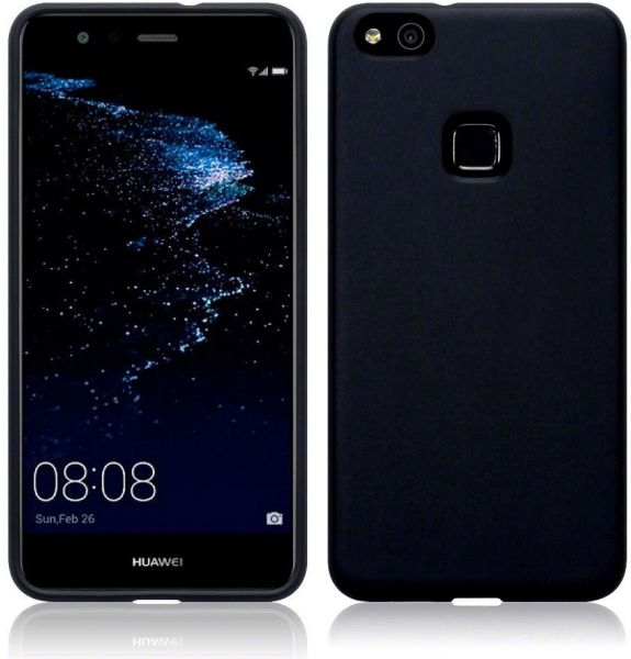 best service 24074 28625 Silicone Back Case Cover By Ineix For Huawei P10 Lite - BLACK