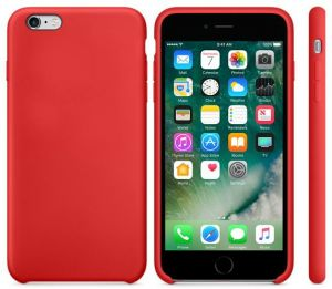 comprare on line ed3eb 31ef1 Silicone iPhone 6 plus / 6S plus back cover case - Red