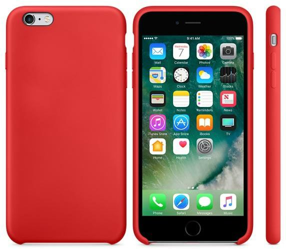 buy online f9ec6 6eb72 Silicone iPhone 6 plus / 6S plus back cover case - Red