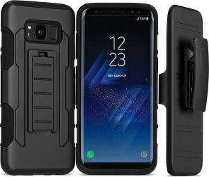 Galaxy S8 Belt Clip Holster Case, Armor Series Heavy Duty Premium Protective Kicks Cover for Samsung Galaxy S8 Black