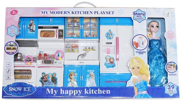 Princess Full Modern Kitchen Set With Complete Kitchen Accessories And Doll Light And Sound Battery Operated Price In Egypt Souq Egypt Kanbkam
