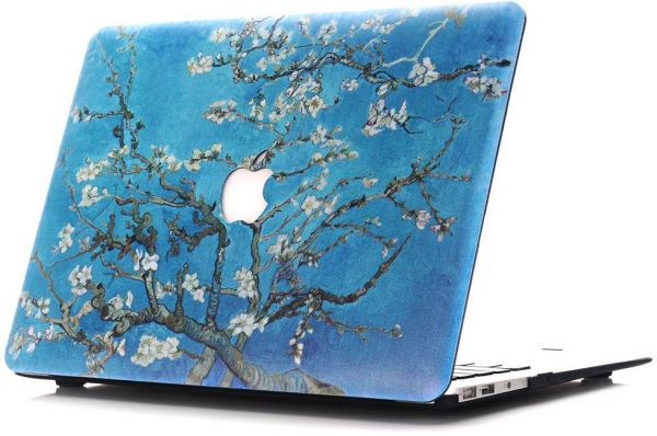 Macbook Air 13 Case Papyhall Marble Pattern Rubber Coated Hard