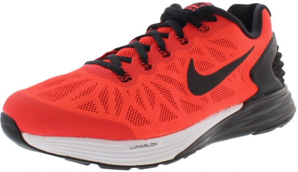 on sale a472b 2a5ac Nike Lunarglide 6 GS Running Shoes for Girls, Bright Crimson/Black/White