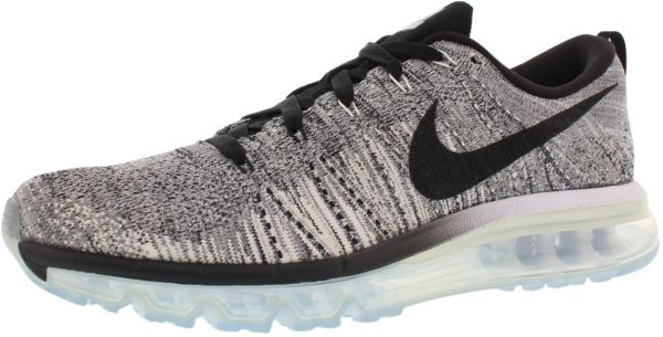 best loved f7a50 dcfb7 Nike Flyknit Max Running Shoes for Women, White Black C..