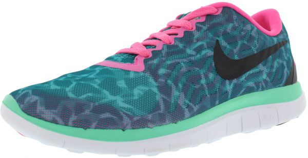 timeless design b084a 34f75 Nike Free 4.0 V5 Print Running Shoes for Women, Emerald ...