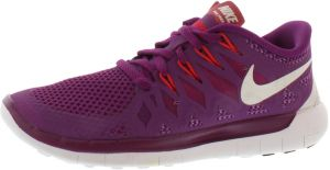 Nike Free 5.0 Running Shoes for Women, Bright GrapeWhite Violet Violet  Shade Legion Red