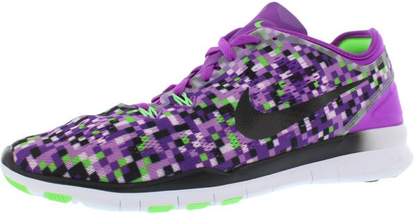 best cheap 2eb57 9b881 ... discount nike free 5.0 tr fit print running shoes for women vivid  purple black voltage green