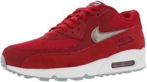the latest 51646 23a95 Nike Air Max 90 Essential Training Shoes for Men, Gym Red Metallic Pewter  White Wolf Grey