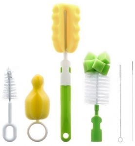 Maison Cooperative Portable Milk Bottle Cleaning Brush Cup Brush 360 Degree Washing Brush Réveils, Radios-réveils