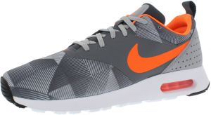 san francisco 25920 95749 Nike Air Max Tavas Print Running Shoes for Men, Dark Grey Total Orange Wolf  Grey White