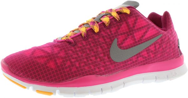 Nike Free Tr Fit 3 Winter Running Shoes for Women, Pink FlowReflect  SilverRaspberry Red