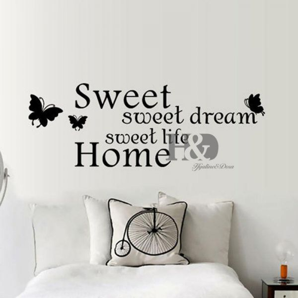 Sofa Background Wall Wallpaper English Word Quotes Waterproof Sweet