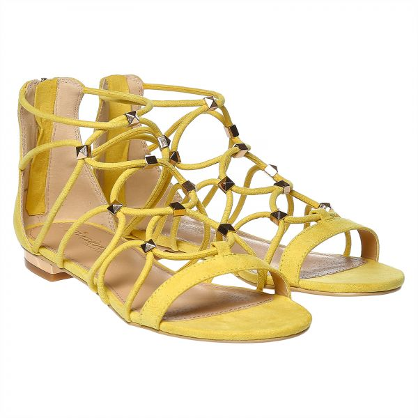 b1c6506b342 Primadonna Collection Yellow Gladiator Sandal For Women