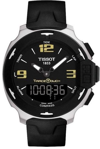92c7bbc44bb Tissot for Mens T-Race Touch Silicon Black Dial Watch T081.420.17.057.00