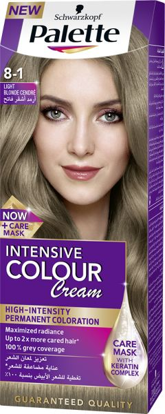 Palette Intensive Color Cream 8 1 Light Blonde Cendre 50 Ml Hair