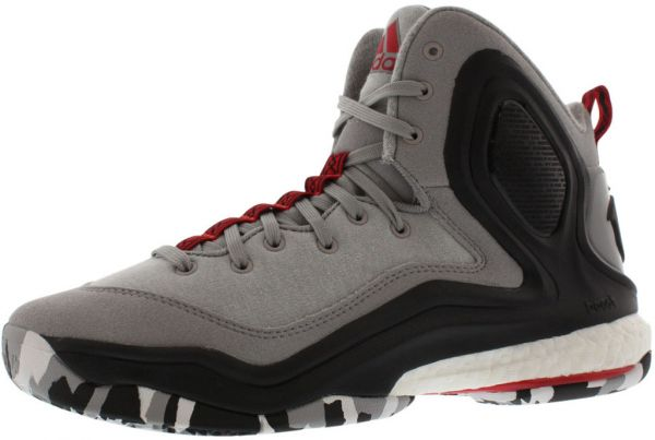 0b639a882631 ... buy adidas d rose 5 boost basketball shoes for boys grey black white  red 4fa8d 2904d