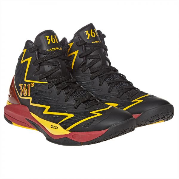 b8f90d0783b 361 Horus Basketball Shoes for Men - Black Wine Gold Price in UAE ...
