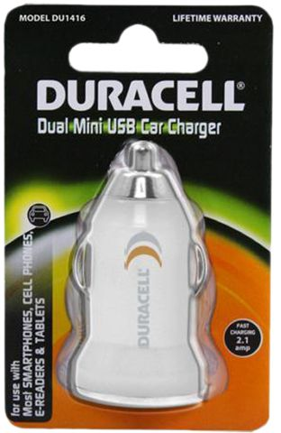 Duracell 2 1a Dual Usb Car Charger