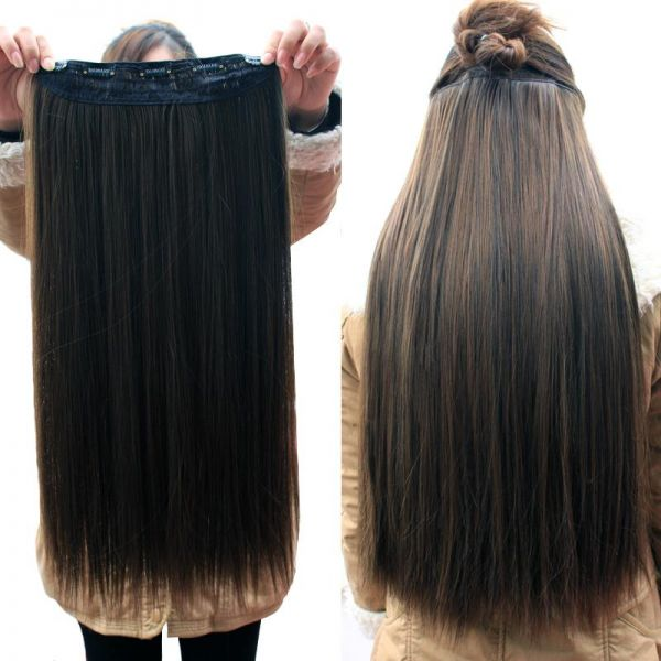 Clip In Brazilian Human Hair Extension Wigs Kanbkam