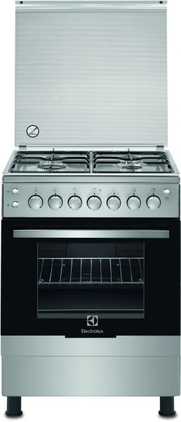 electrolux 60 x 60 cm 4 burners gas cooker stainless steel finish ekg612a1ox