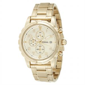 3690d70bf Fossil Dean For Men Champagne Dial Stainless Steel Band Chronograph Watch -  FS4867