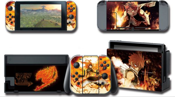 Fairy Tail Skin Sticker For Nintendo Switch Console With Controller And  Dock Cover Decals-tz025