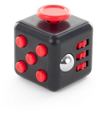Ratoop Fidget Cube Relieves Stress and Anxiety Attention Toy for Work/Class/Home, Black/Red
