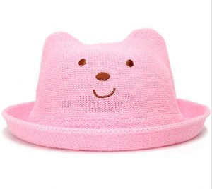 2a40b73ab31 Red Baby Child Bear Sun Hat For Kids