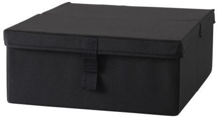 Polyester Storage Box With Lid Black  sc 1 st  Kanbkam & Polyester Storage Box With Lid Black | Kitchenware And Home ...